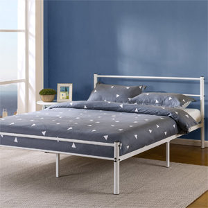 12 Inch Metal Platform Bed with Headboard