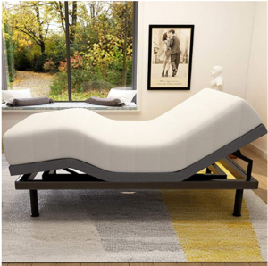 Milemont Adjustable Bed Base Frame Smart Electric Beds Foundation