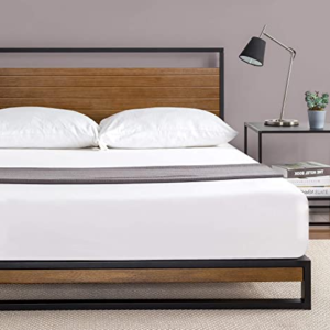 Zinus Ironline Metal and Wood Platform Bed