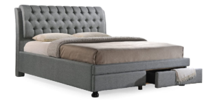 Baxton Studio- Fabric Upholstered Storage Bed