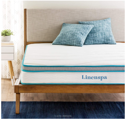 Linenspa- Best Bed Frame for Hybrid Mattress