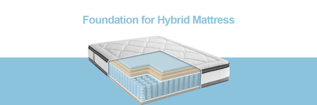 best bed frame and foundation for hybrid mattress